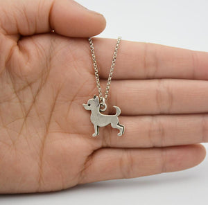 Necklace - Silver Chihuahua Pendant Necklace