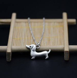 Necklace - Silver Dachshund Pendant Necklace