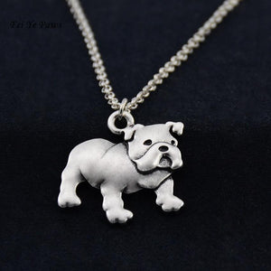 Necklace - Silver English Bulldog Necklace