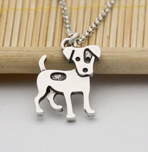 Necklace - Silver Jack Russell Pendant Necklace