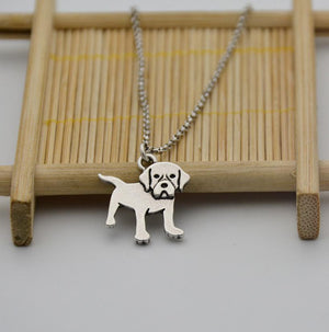 Necklace - Silver Labrador Pendant Necklace