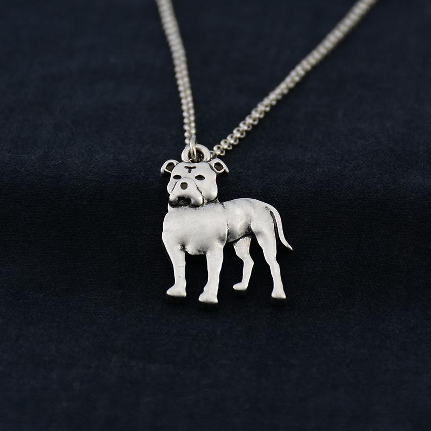 Silver pit bull pendant necklace onepunz necklace silver pit bull pendant necklace aloadofball Gallery