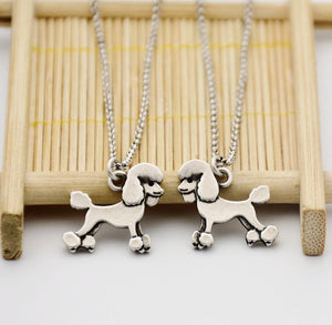 Necklace - Silver Poodle Pendant Necklace