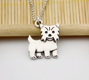 Necklace - Silver Yorkshire Terrier Pendant Necklace