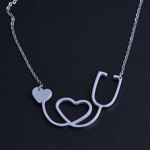 Necklace - Stethoscope Heart Shaped Necklace