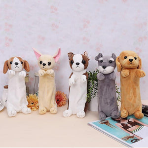 Pencil Case - Cute Dog Shaped Plush Pencil Case