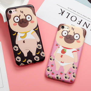 Phone Case - Cute Cartoon Pug IPhone Case