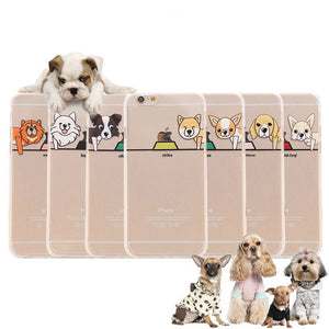 Phone Case - Cute Dog Soft TPU Rubber Clear Case For IPhone