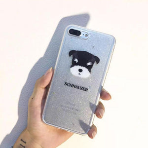 Phone Case - Cute Dogs Flash Powder Soft TPU IPhone Case