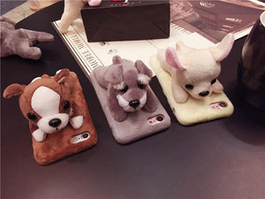 Phone Case - Cute Plush Dog Doll IPhone Case