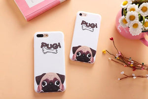 Phone Case - Cute Pug Soft Scrub TPU IPhone Case