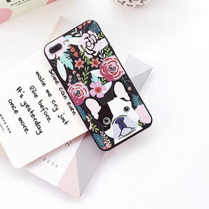 Phone Case - Flower French Bulldog IPhone Case