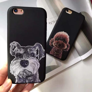 Phone Case - Schnauzer Black Silicone Case For IPhone