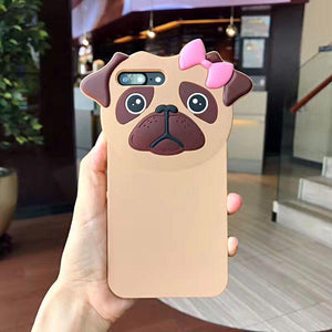 Phone Case - Soft Pug Girl IPhone Case