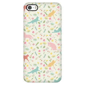 Phone Cases - Cute Cat Flower IPhone Case