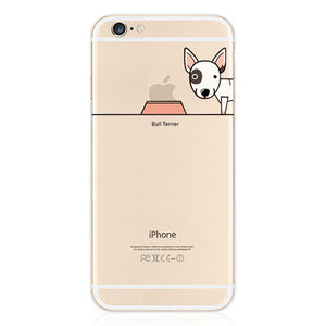 Cute Bull Terrier Soft TPU Rubber Case for iPhone