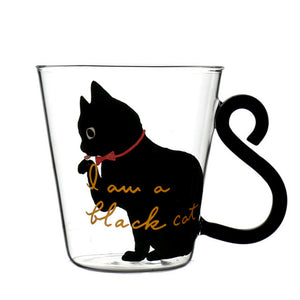 Cute Cat Glass Mug