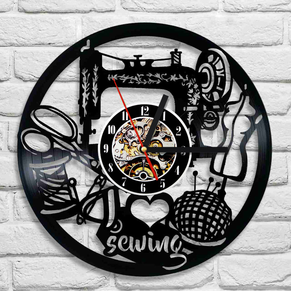 I love sewing vinyl wall clock with led light onepunz i love sewing vinyl wall clock with led light mozeypictures Images