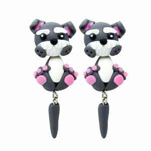 3D Schnauzer Earrings