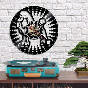Poodle Vinyl Wall Clock with LED Light