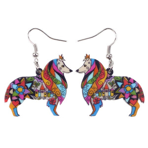 Cute Sheltie Dog Earrings * Free Shipping! *