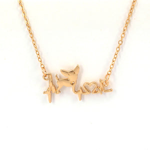 Chihuahua Heartbeat Necklace * Free Shipping! *