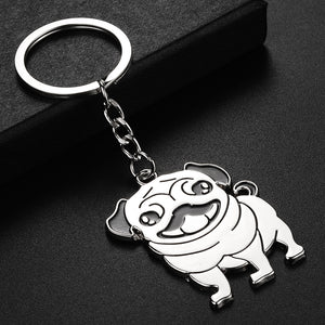 Cute Pug Dog Keychain