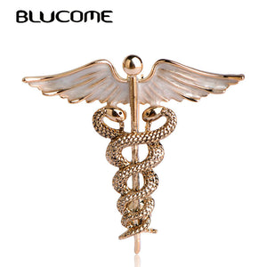 Caduceus Brooch