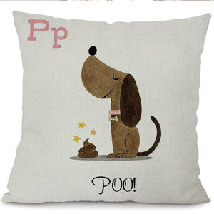 Cartoon Dachshund Cushion Covers