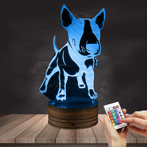 Bull Terrier Dog LED Lamp / Night Light