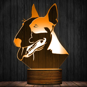 Bull Terrier LED Lamp / Night Light