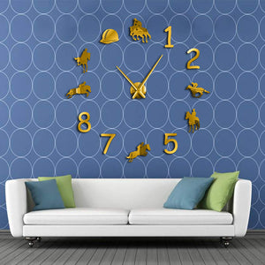Equestrian Frameless DIY Wall Clock