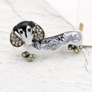 Cute Dachshund Brooch