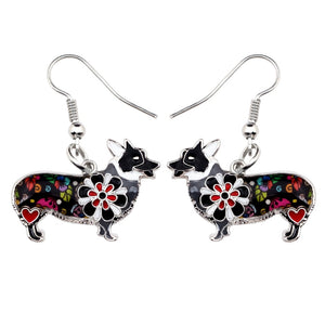 Flower Corgi Earrings * Free Shipping! *