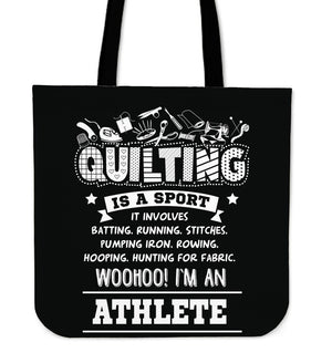 Quilting Is A Sport Tote Bag