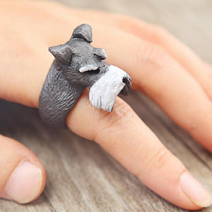 Ring - Resin Schnauzer Open Ring