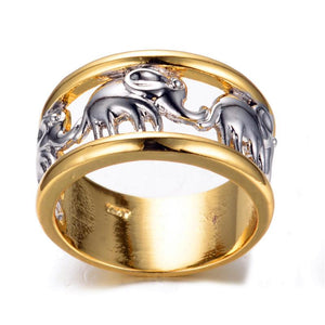 Ring - Two-tone Elephant Band Ring