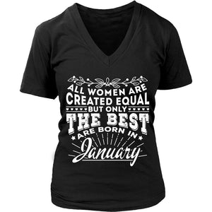 T-shirt - 01 Born In January Shirt (Women)