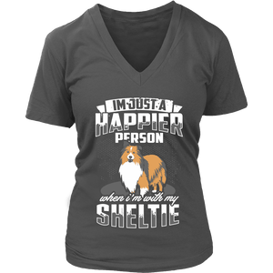 T-shirt - A Happier Person With My Sheltie Shirt