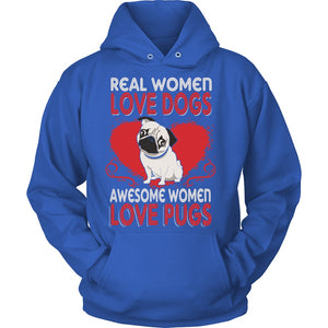 T-shirt - Awesome Women Love Pugs