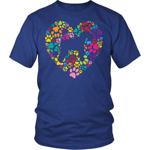 T-shirt - Schnauzer Paw Heart Shirt
