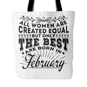 Tote Bags - 02 Born In February Tote Bag