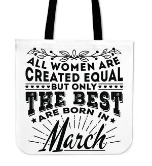 Tote Bags - 03 Born In March Tote Bag