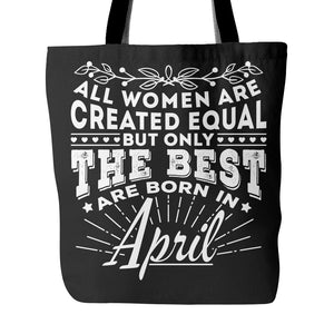 Tote Bags - 04 Born In April Tote Bag 18""