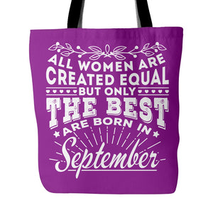 Tote Bags - 09 Born In September Tote Bag