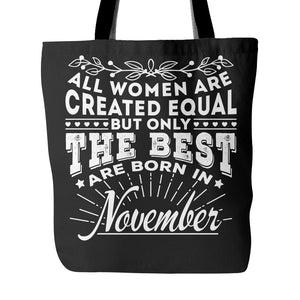 Tote Bags - 11 Born In November Tote Bag