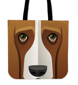 Tote Bags - Basset Hound Tote Bag