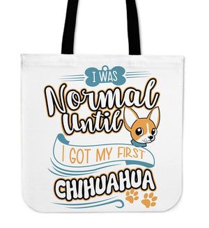 Tote Bags - My First Chihuahua Tote Bag