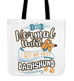 Tote Bags - My First Dachshund Tote Bag