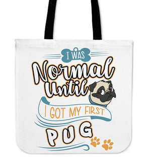 Tote Bags - My First Pug Tote Bag